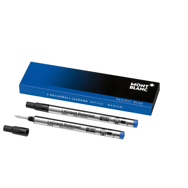 Montblanc 2 Rollerball LeGrand Refills (M) Pacific Blue