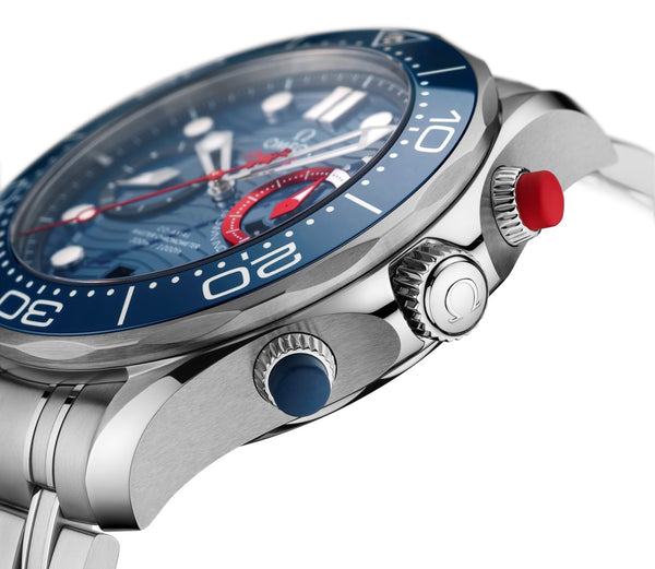 Omega Seamaster Diver 300M America's Cup Chronograph 210.30.44.51.03.002 Pushers