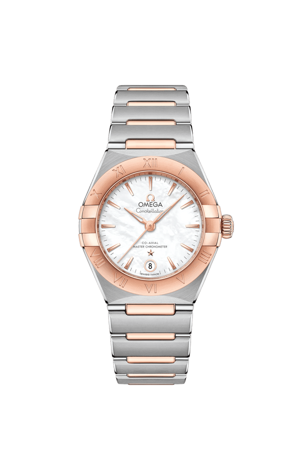 Omega Constellation Manhattan Co-Axial Chronometer 18K Sedna™ gold and stainless steel Watch 29mm 13120292005001