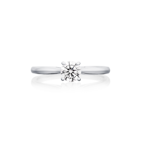 Burrells Platinum 0.50ct Round Brilliant Cut Diamond Solitaire Ring