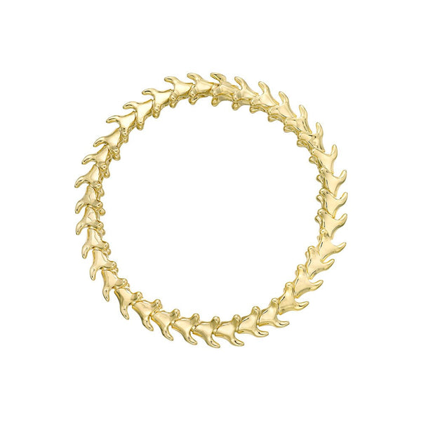 Shaun Leane Yellow Gold Vermeil Serpents Trace Slim Unisex Bracelet (S)
