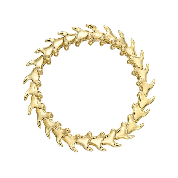 Shaun Leane Yellow Gold Vermeil Serpents Trace Wide Unisex Bracelet (S)