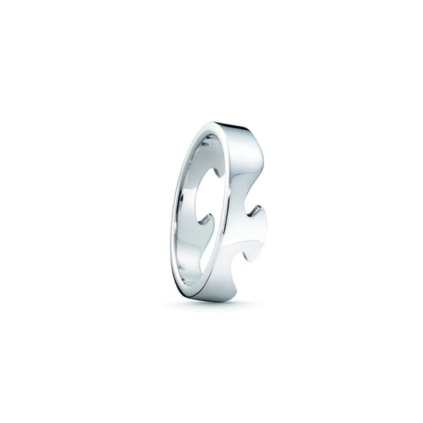 Georg Jensen Fusion End Ring - 18ct White Gold