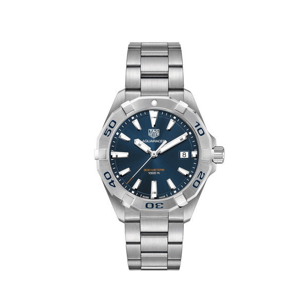TAG Heuer Aquaracer Blue Dial Steel Bracelet 41mm