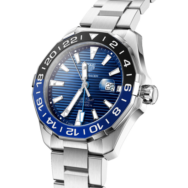 TAG Heuer Aquaracer Calibre 7 GMT 43mm WAY201T.BA0927 Angle