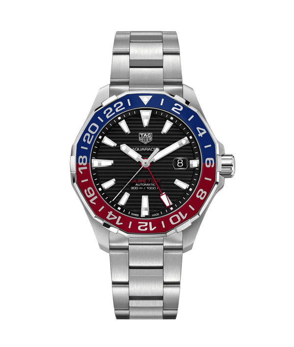 TAG Heuer Aquaracer Calibre 7 Twin-Time 43mm WAY201F.BA0927 Face