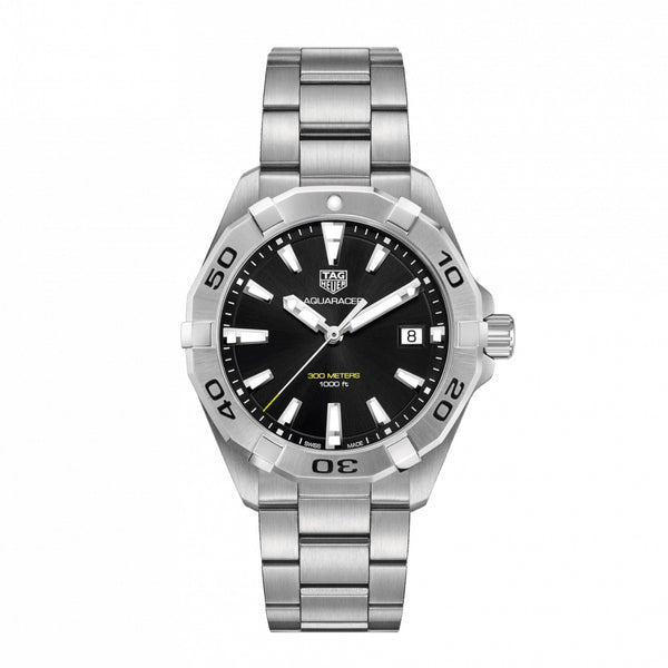 TAG Heuer Aquaracer Quartz Black Dial 41mm WBD1110.BA0928 Face