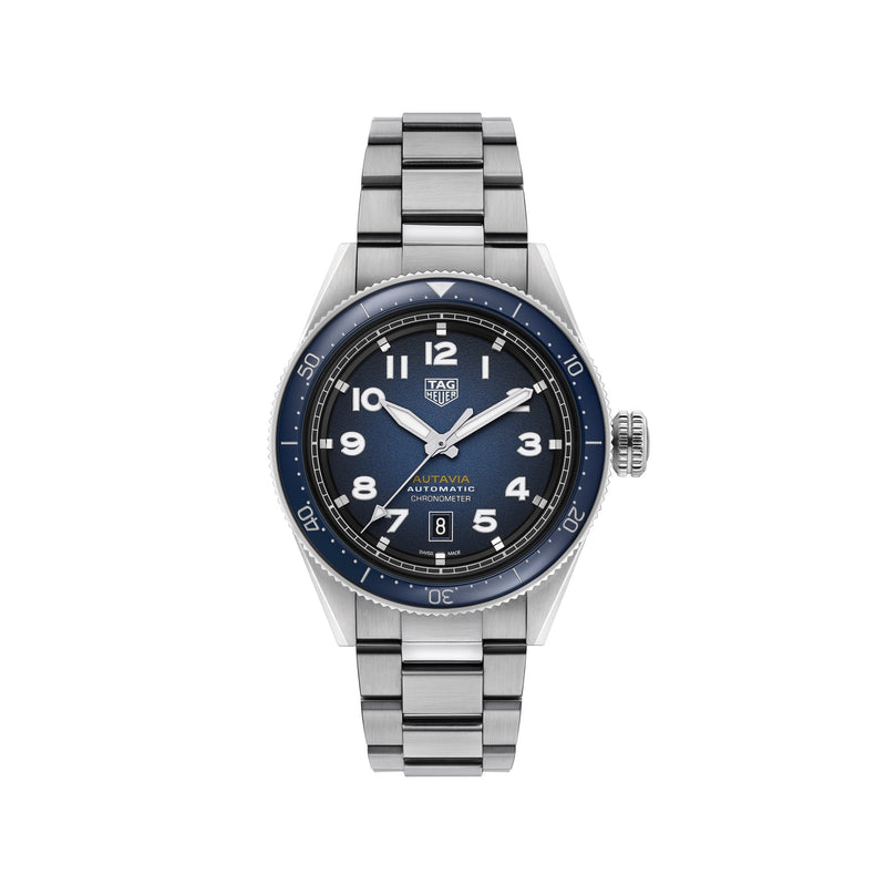 TAG Heuer Autavia Blue & Steel 42mm WBE5116.EB0173 Face