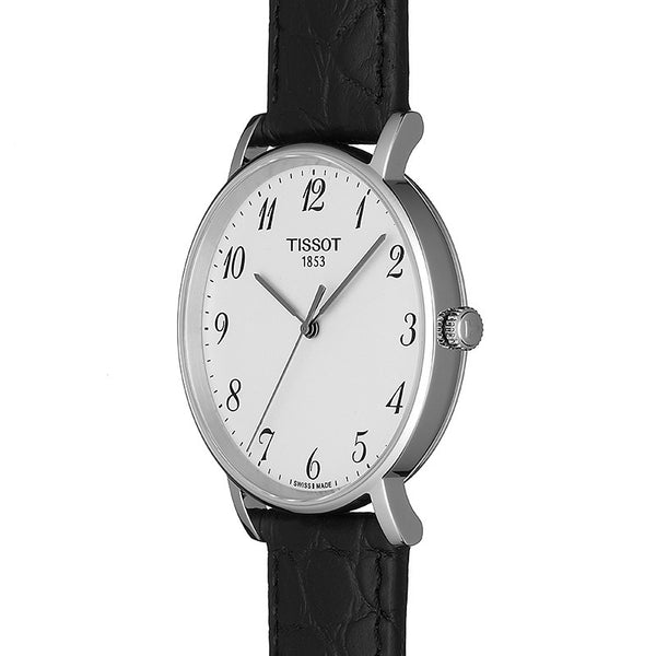 Tissot Everytime Medium Black Leather Strap 38mm T1094101603200
