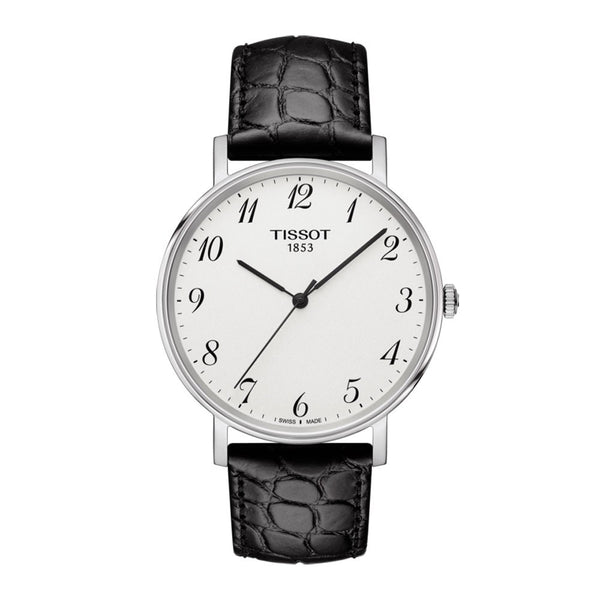 Tissot Everytime Medium Black Leather Strap 38mm