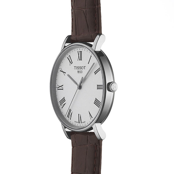 Tissot Everytime Medium Brown Leather Strap 38mm T1094101603300