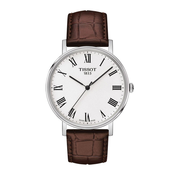 Tissot Everytime Medium Brown Leather Strap 38mm