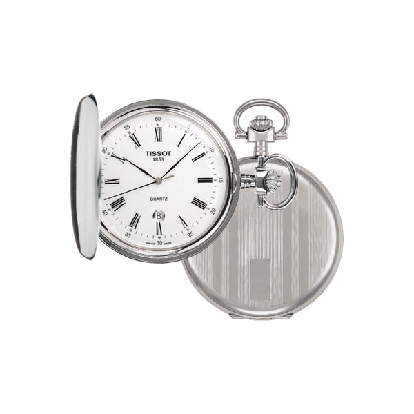 Tissot Savonnette Stainless Steel Pocket Watch