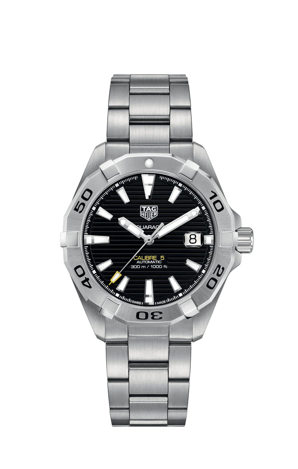 TAG Heuer Aquaracer Watch Black Steel 41mm WBD2110.BA0928 Main