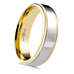 Mens Blend two tone wedding ring from Brown and Newirth. B&N Style code 7051