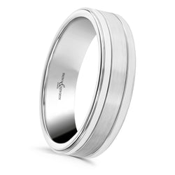Mens Pluto matt and polished wedding ring from Brown and Newirth. B&N Style code ANFP1164