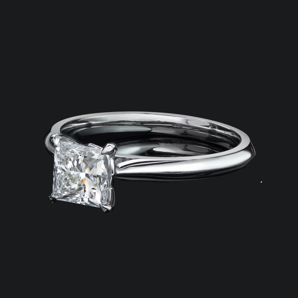Winchester Collection Platinum 0.41ct Princess Cut 4CL Diamond Ring