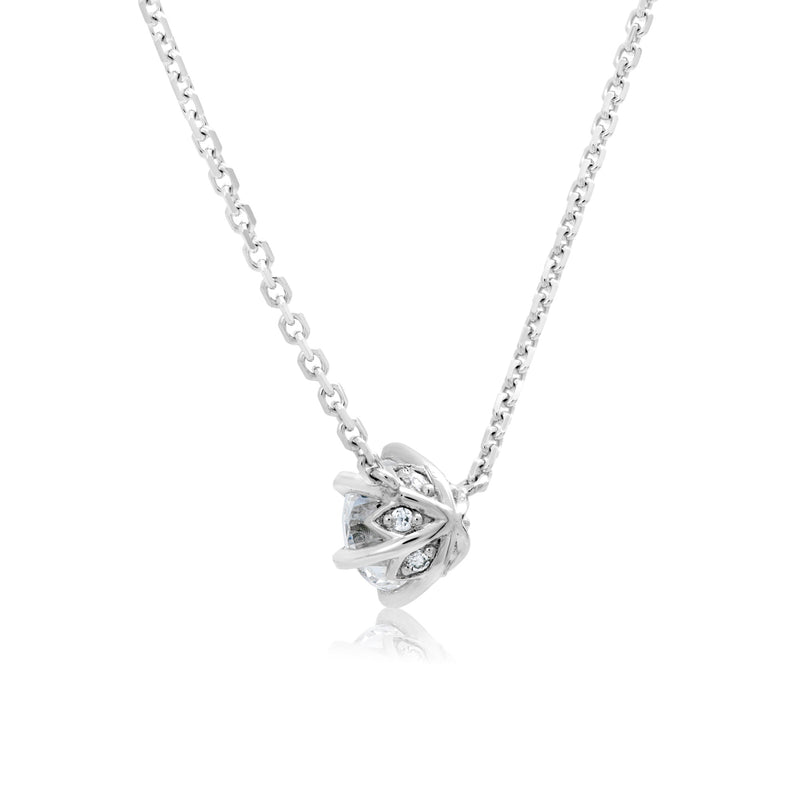 Winchester Collection 18ct White Gold 0.50ct Certified Diamond Solitaire 6CL Pendant