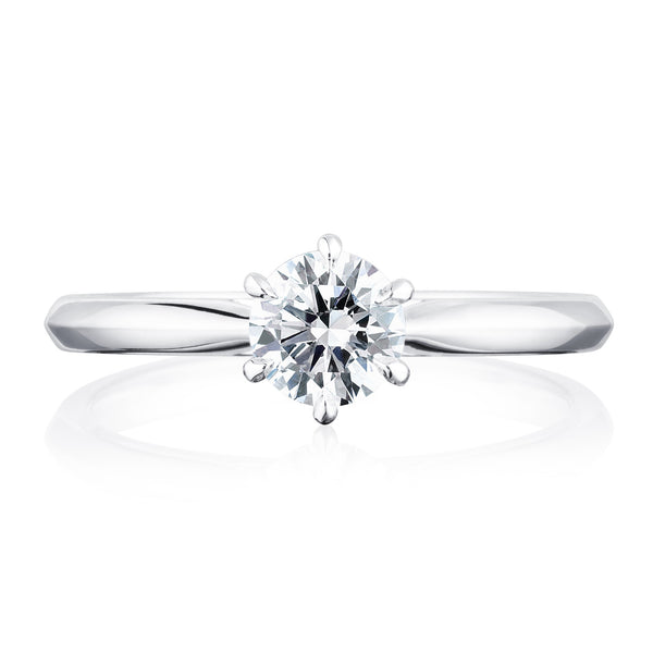 Winchester Collection Platinum 0.50ct DSI2 Certified Round Brilliant Cut Diamond Solitaire 6CL Ring
