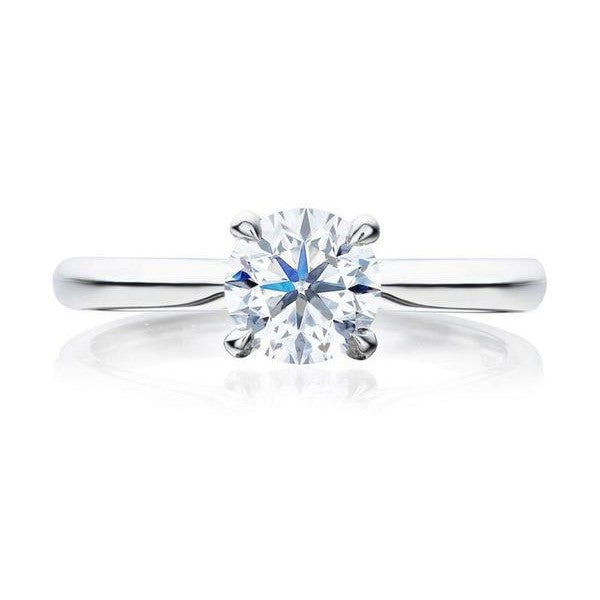 Winchester Collection Platinum 1.00ct DSI2 Certified Round Brilliant Cut 4CL Ring