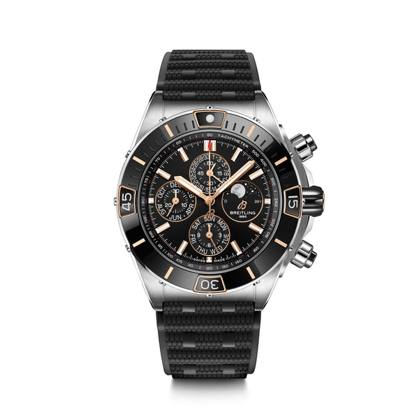 Breitling Super Chronomat 44 Four-Year Calendar Stainless Steel - Black I19320251B1S1Rubber strap