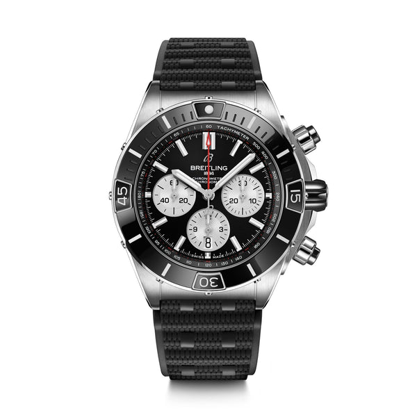 Breitling Super Chronomat B01 44 Stainless Steel - Black AB0136251B1S1 Rubber Strap
