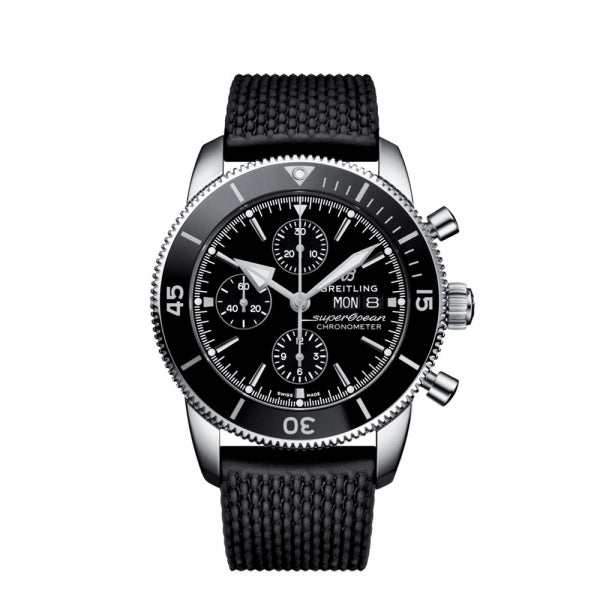 Breitling Superocean Heritage Chronograph 44 Steel Volcano Black A13313121B1S1 Face