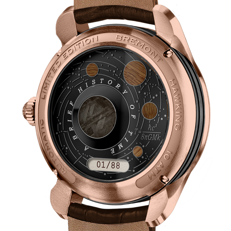 Bremont Hawking Limited Edition Watch - Rose Gold back zoomed