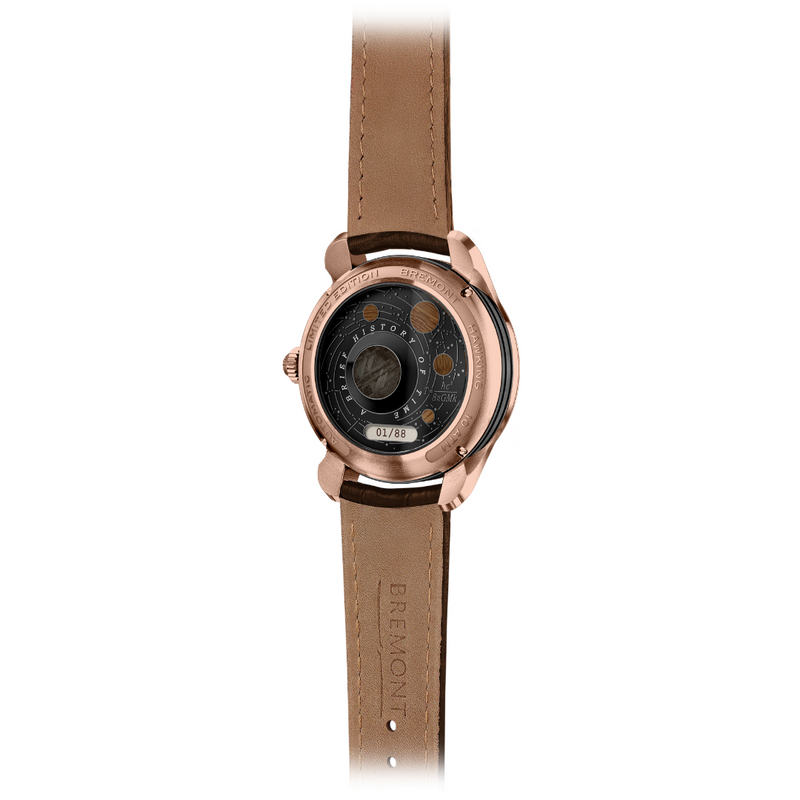 Bremont Hawking Limited Edition Watch - Rose Gold back