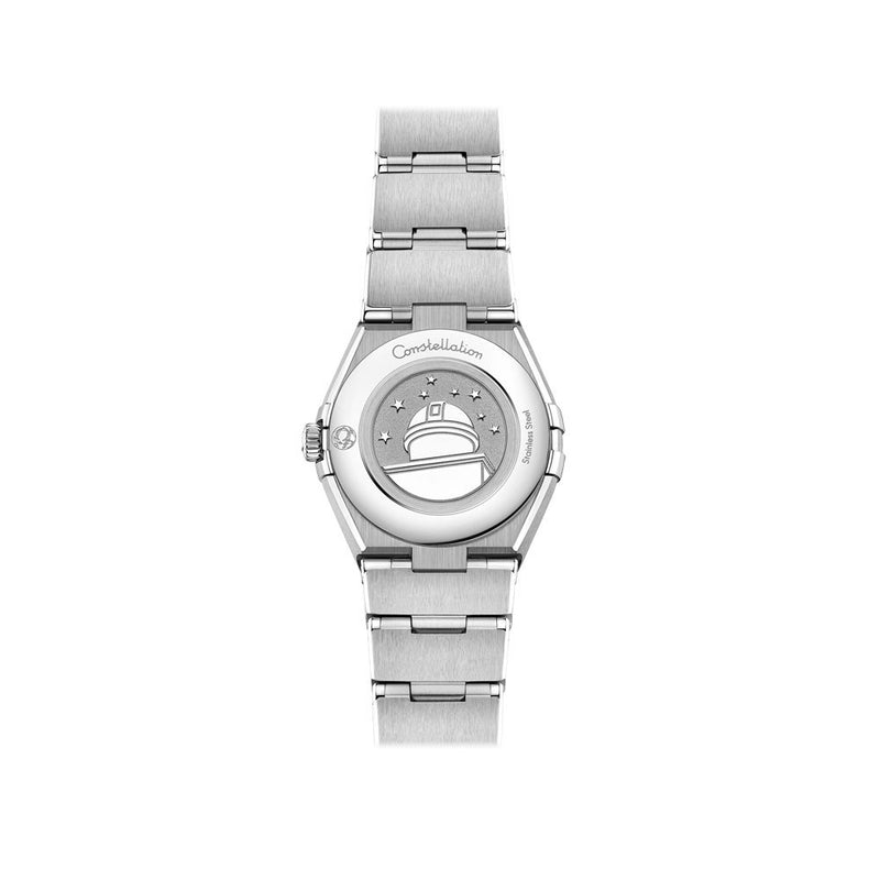 Omega Constellation Manhattan Stainless Steel with Diamonds Quartz Watch 25mm Case Back