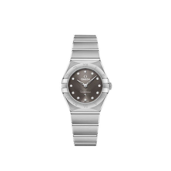 Omega Constellation Manhattan Stainless Steel with Diamonds Quartz Watch 25mm Face