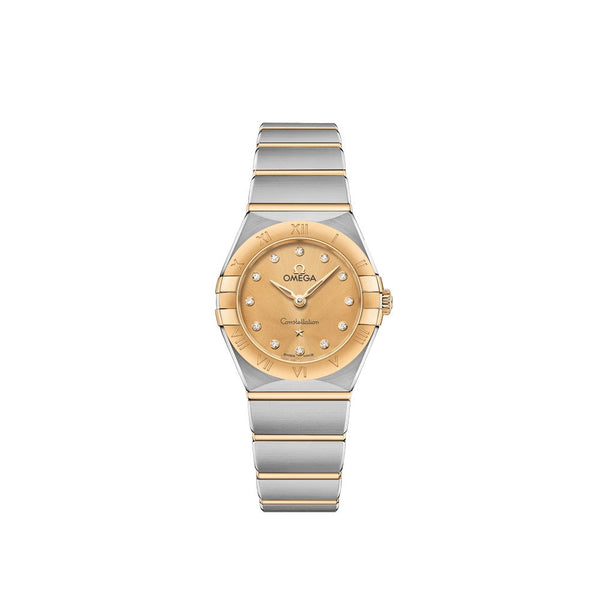 Omega Constellation Manhattan Stainless Steel & 18ct Yellow Gold with Diamonds Quartz Watch 25mm