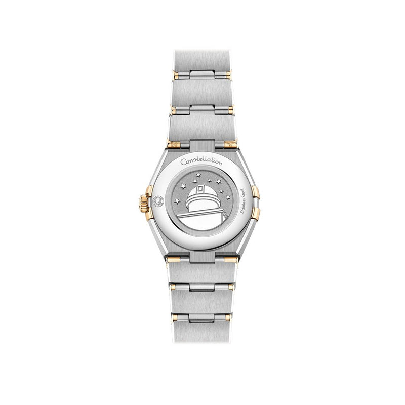 Omega Constellation Manhattan Stainless Steel & 18ct Yellow Gold with Diamonds Quartz Watch 25mm Case Back