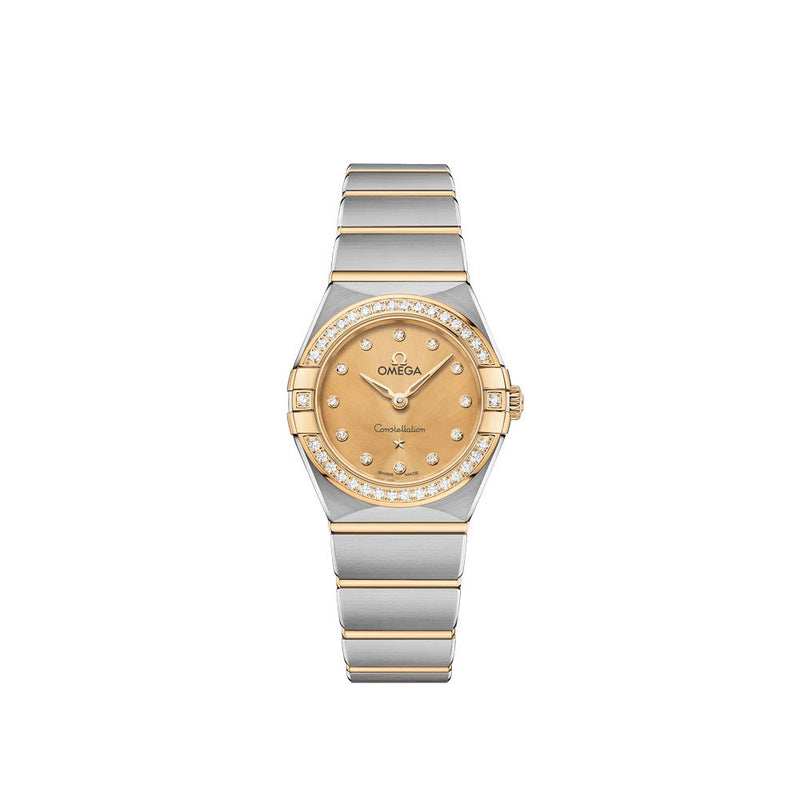 Omega Constellation Manhattan Stainless Steel & 18ct Yellow Gold with Diamonds Quartz Watch 25mm Face