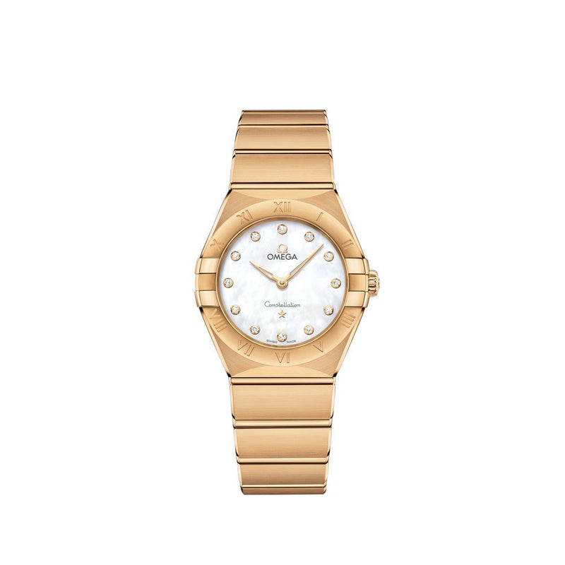 Omega Constellation Manhattan 18ct Yellow Gold with Diamonds Quartz Watch 25mm Face