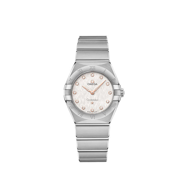 Omega Constellation Manhattan Stainless Steel with Diamonds Quartz Watch 28mm