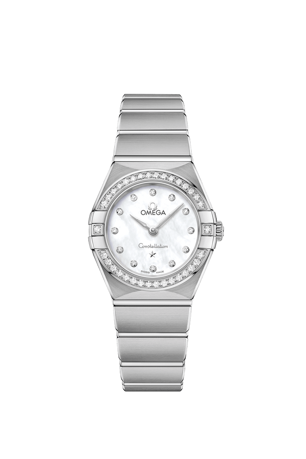 Omega Constellation Manhattan Stainless Steel with Diamonds Quartz Watch 25mm 131.15.25.60.55.001
