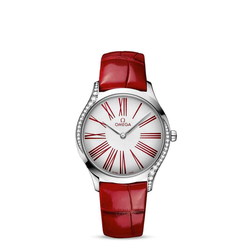 Omega De Ville Trésor Quartz Red Leather 36mm Face