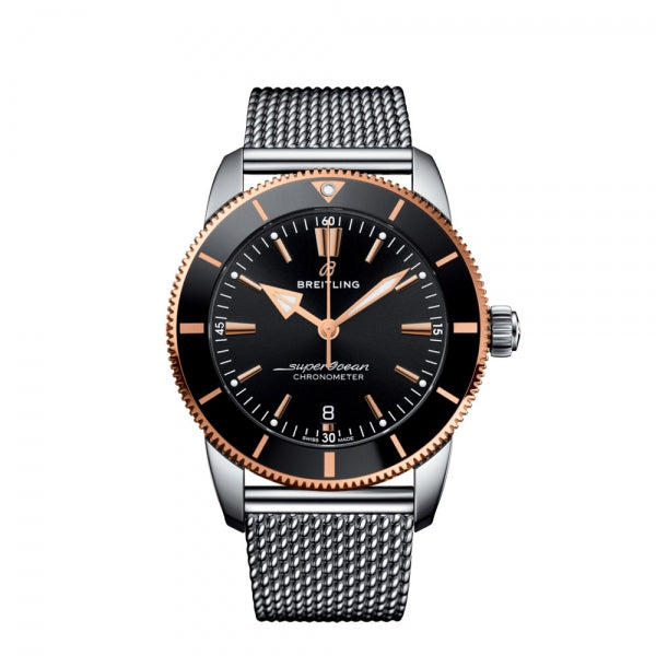 Breitling Superocean Heritage B20 Automatic 44 Steel & Rose Gold Black UB2030121B1A1 Face