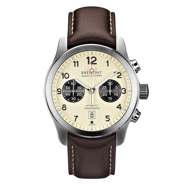 Bremont ALT1-C Cream Dial & Brown Leather Strap 43mm ALT1-C/CR Face