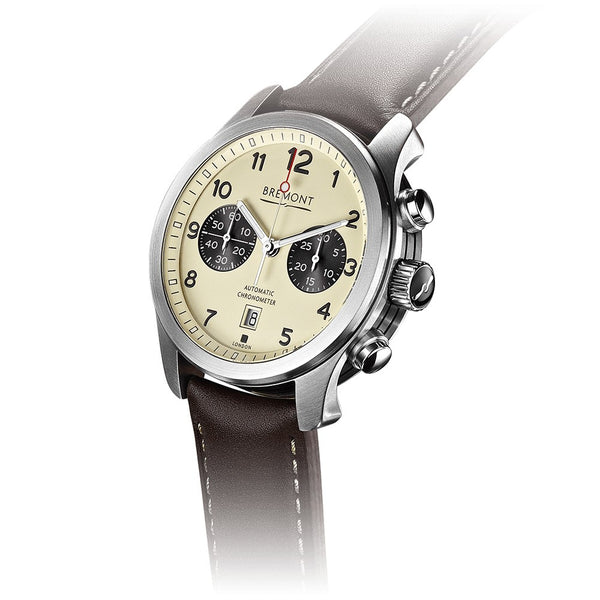 Bremont ALT1-C Cream Dial & Brown Leather Strap 43mm ALT1-C/CR Crown
