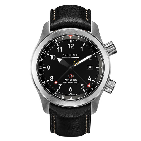Bremont MBIII Martin-Baker GMT Black Dial & Leather Strap 43mm MBIII/BZ Face