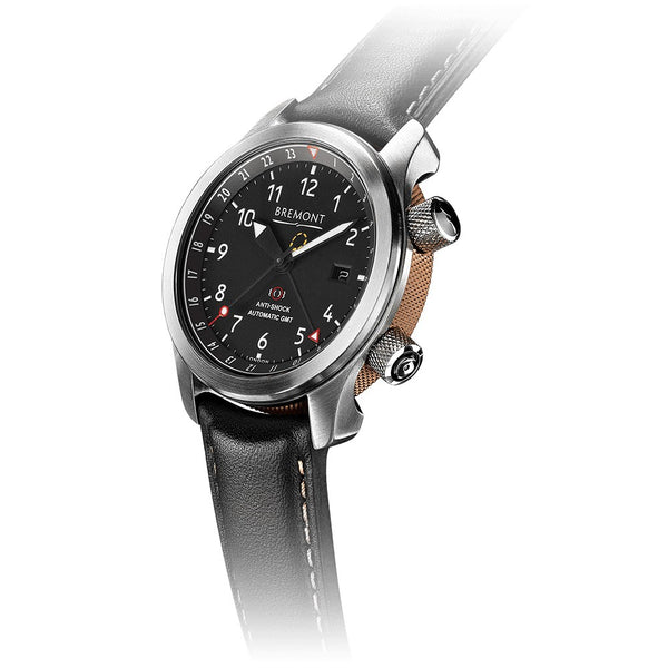 Bremont MBIII Martin-Baker GMT Black Dial & Leather Strap 43mm MBIII/BZ Crown