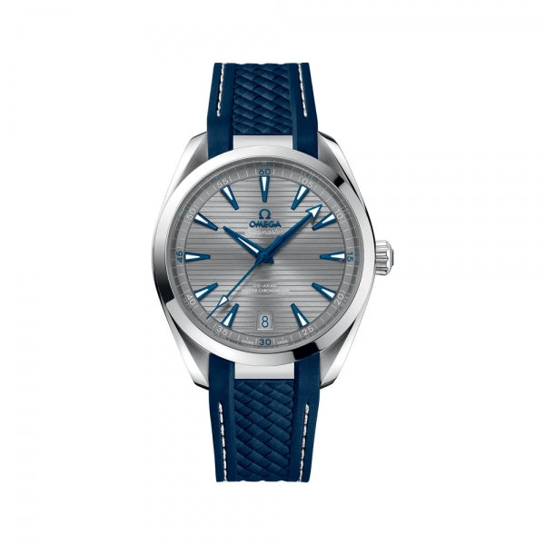 Omega Seamaster Aqua Terra 150M Co-Axial Master Chronometer Grey & Blue Rubber Strap 41mm