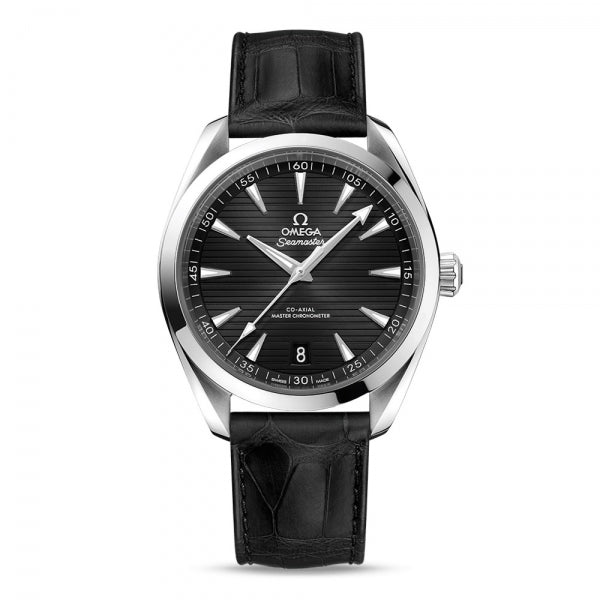 Omega Seamaster Aqua Terra 150M Co-Axial Master Chronometer Black Dial & Leather Strap 41mm