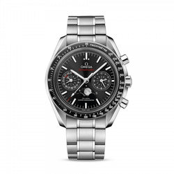 Omega Speedmaster Moonwatch Co-Axial Moonphase Chronograph Steel & Black 44.25mm