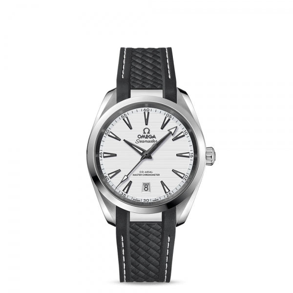 Omega Seamaster Aqua Terra 150M Co-Axial Master Chronometer Silver Dial & Black Rubber Strap 38mm