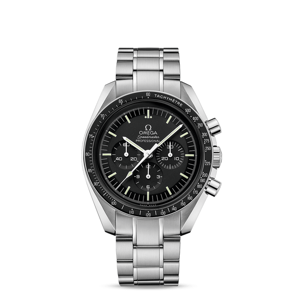 Omega Speedmaster Moonwatch Professional Chronograph Steel & Black 42mm Face
