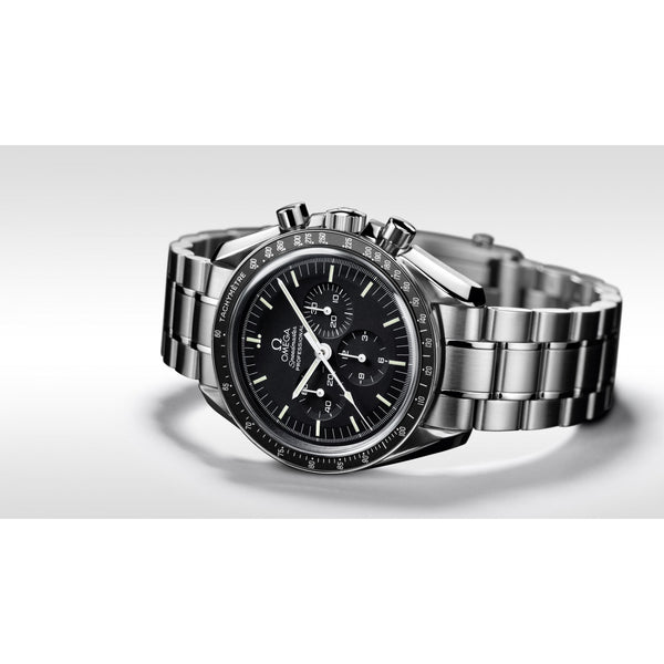 Omega Speedmaster Moonwatch Professional Chronograph Steel & Black 42mm Bracelet