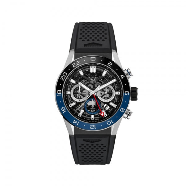 TAG Heuer Carrera Chronograph GMT Rubber Strap 45mm